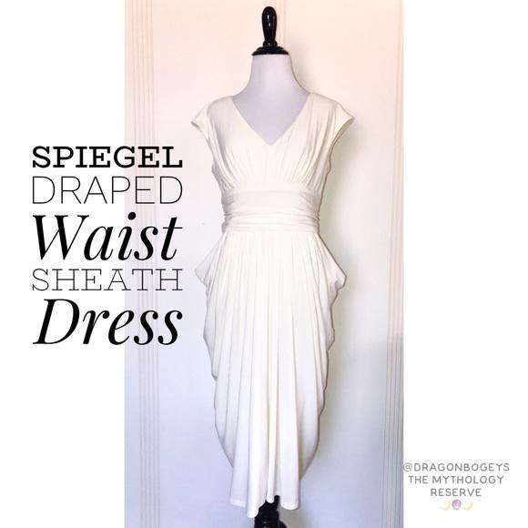 Spiegel Draped Waist Sheath Dress Poshmark